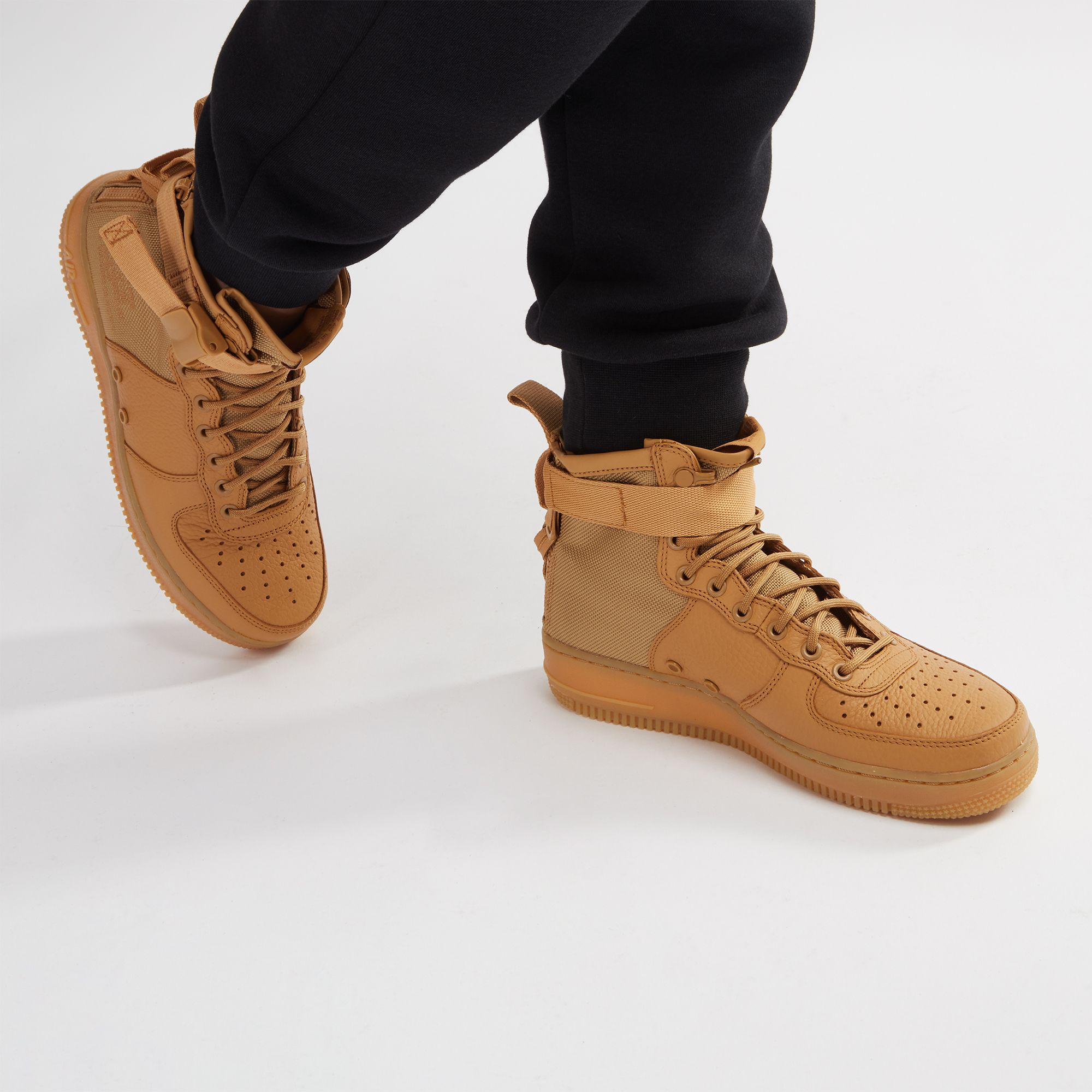 check out 2eee0 e090d Shop Gold Nike SF Air Force 1 Mid Boot for Womens by Nike | SSS