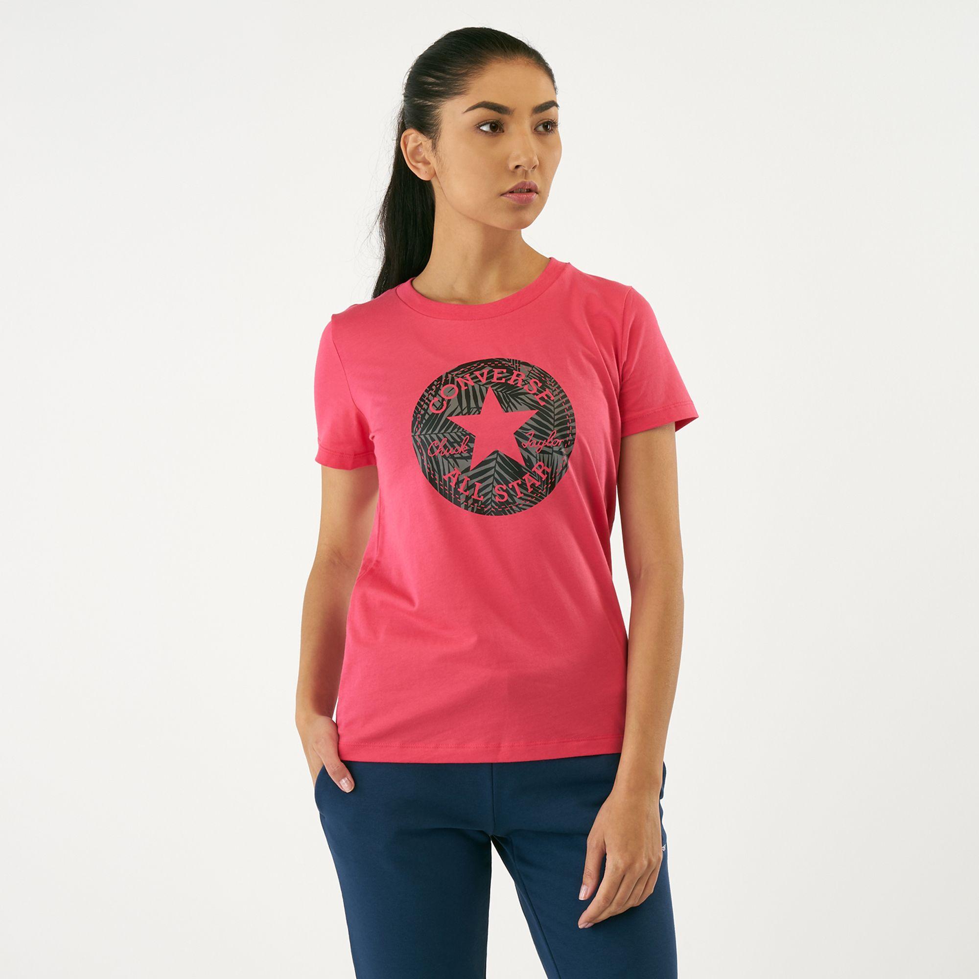 e13fbdbb1 Converse Women's Chuck Taylor Palm Patch T-Shirt | T-Shirts | Tops ...