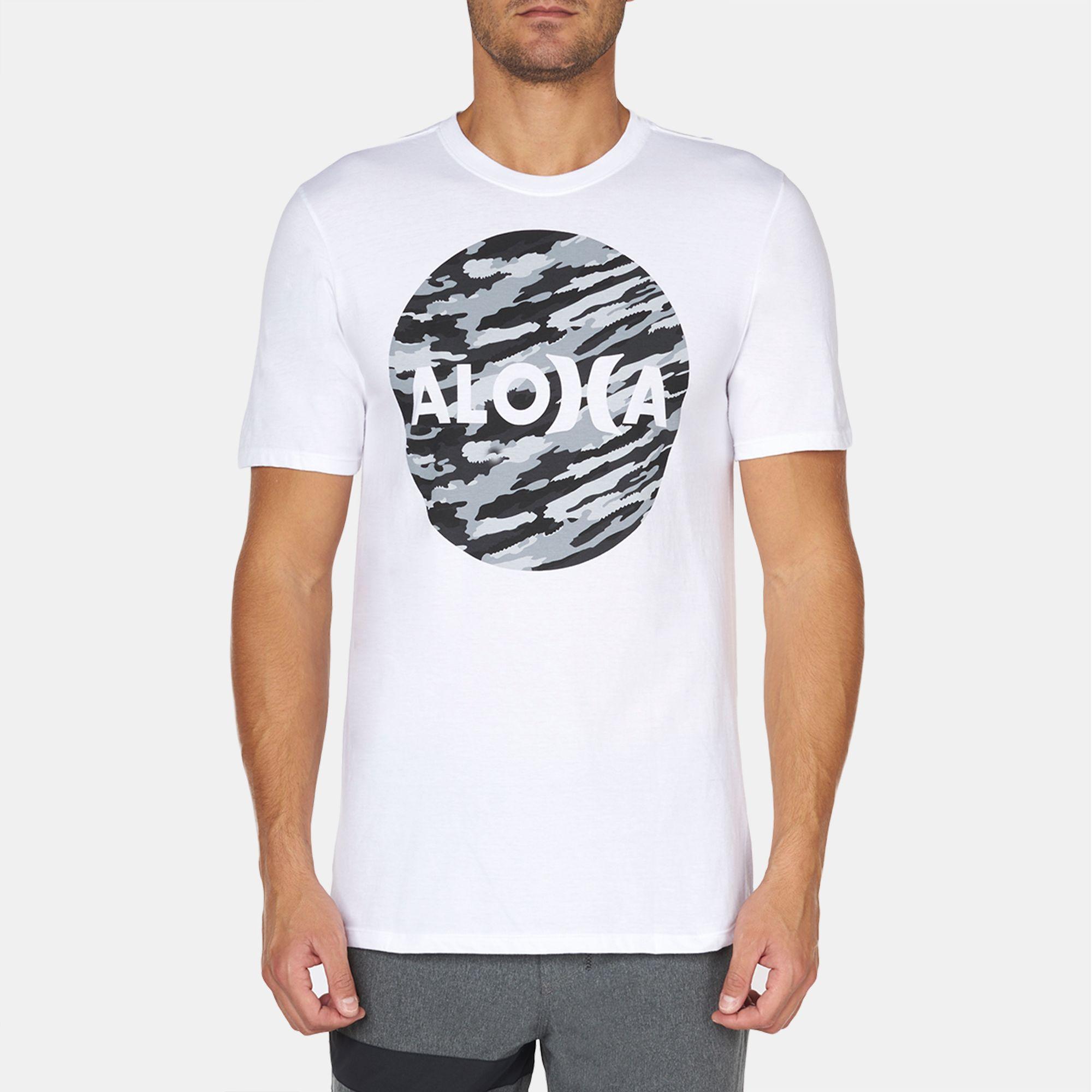6f2a17d2cb Shop White Hurley JJF Aloha Push Through T-Shirt for Mens by Hurley ...