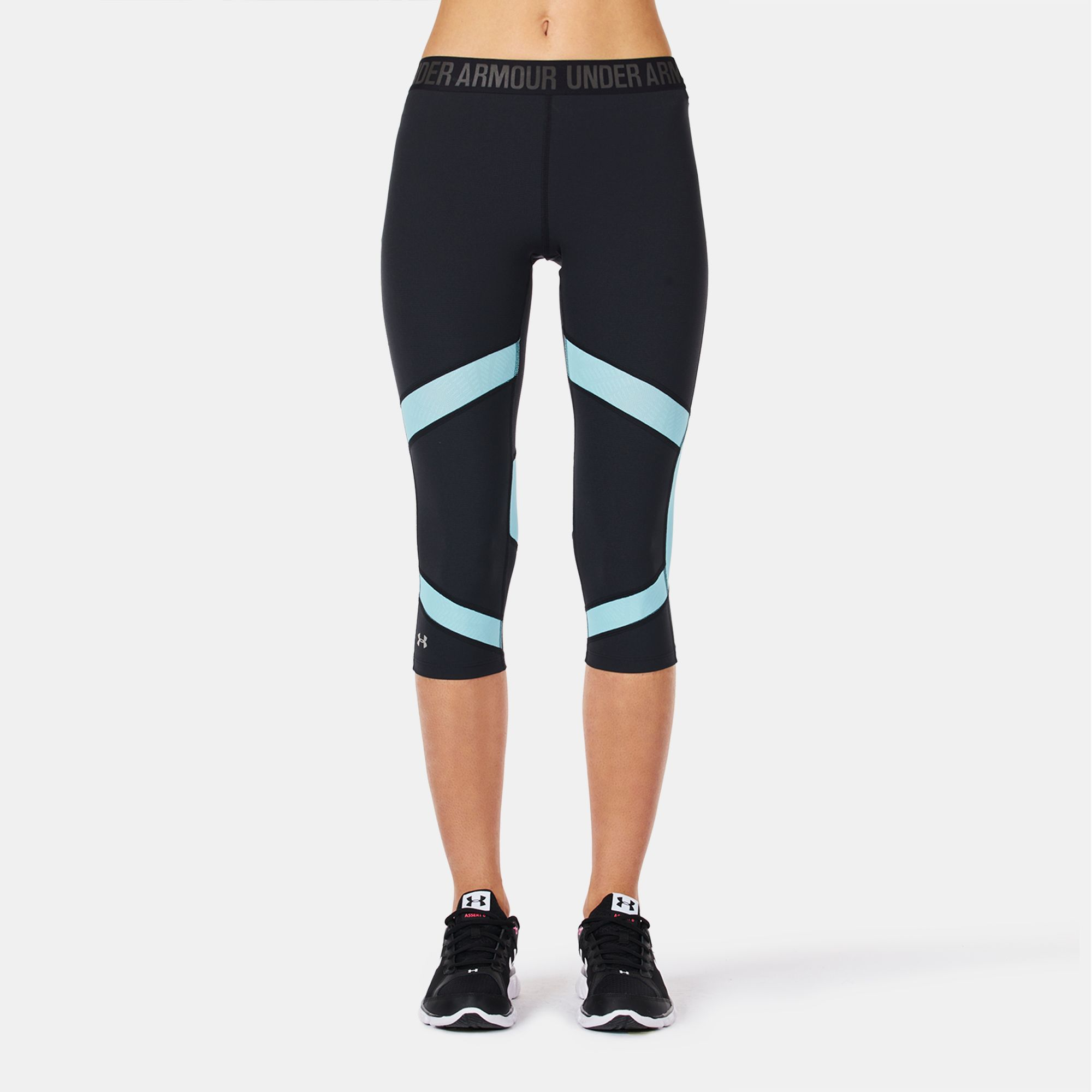 d5a77369d2 Shop Black Under Armour CoolSwitch Capri Leggings for Womens by ...