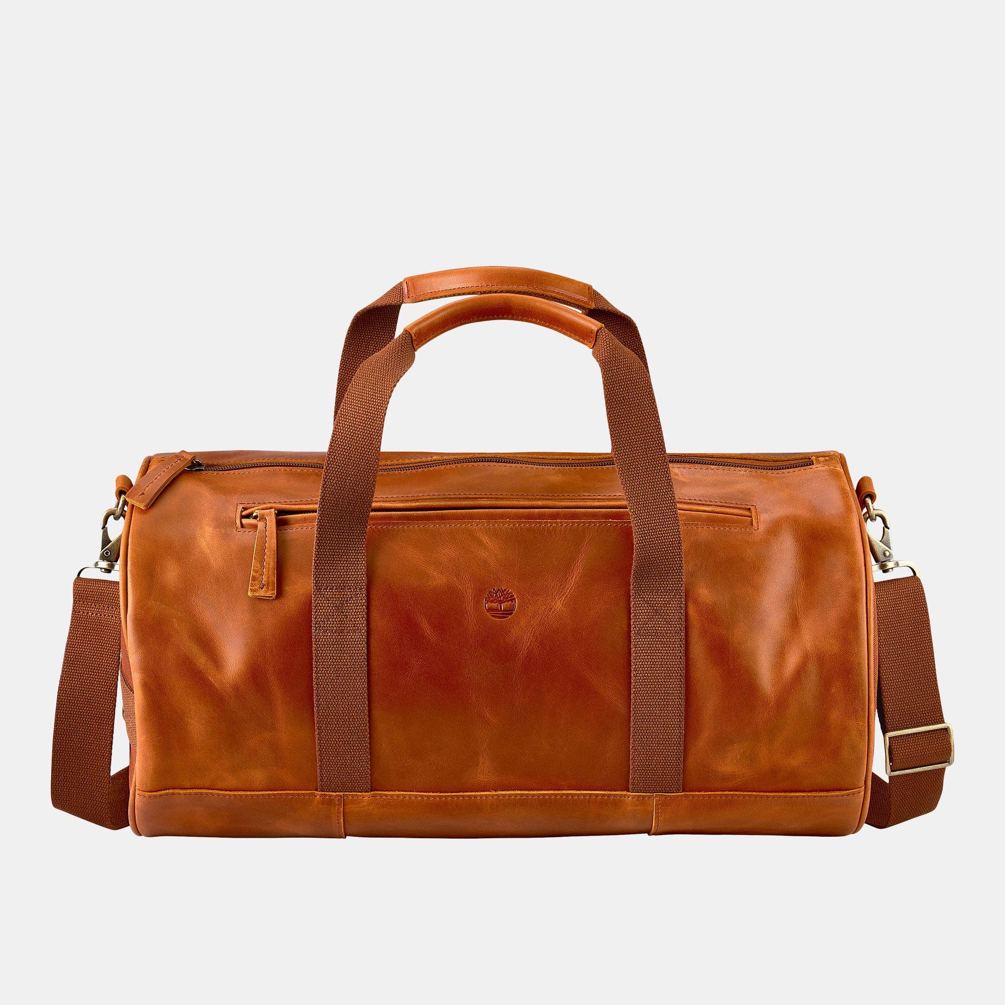 Timberland Tuckerman Leather Duffle Bag Brown