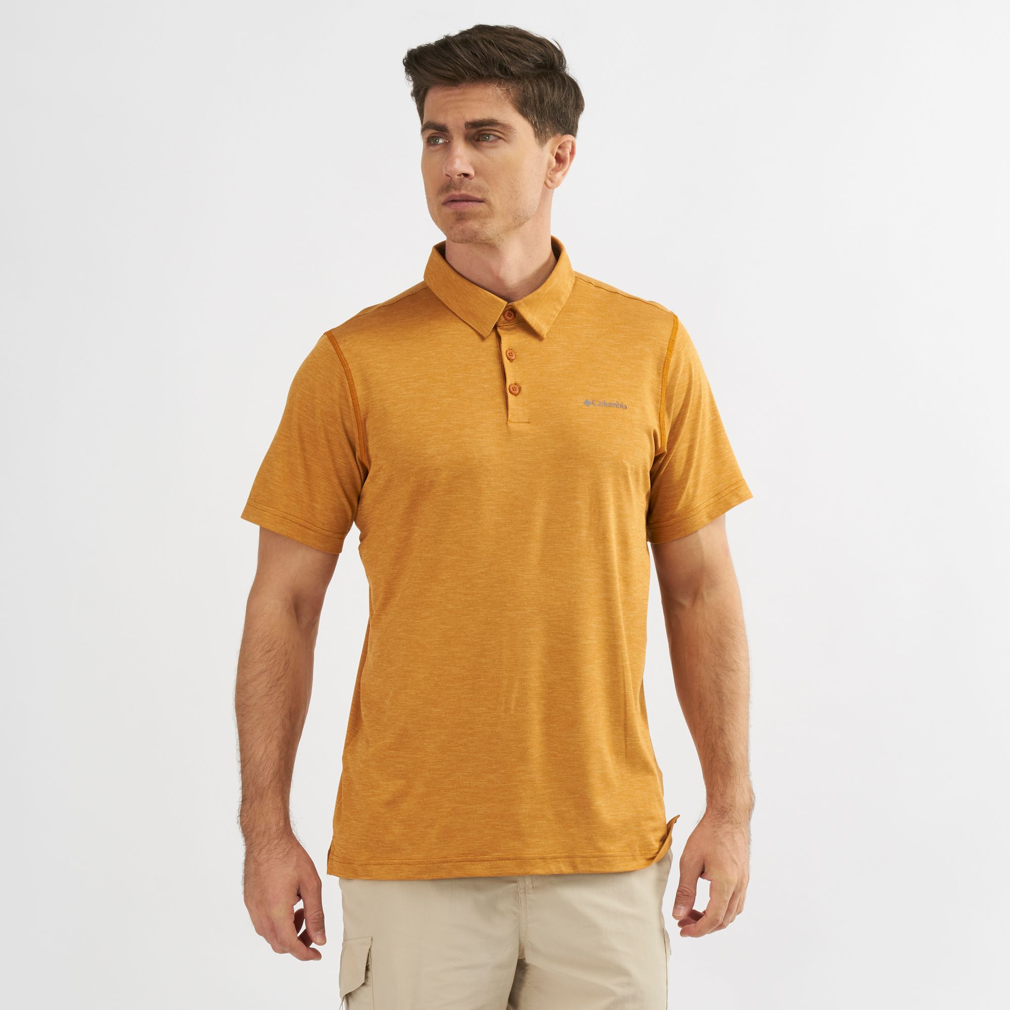 9521548d70e Shop Yellow Columbia Tech Trail™ Polo T-Shirt | Polo Shirts | Tops ...