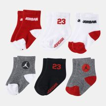 Jordan Kids' Legend Quarter Socks - 6 Pairs (Baby and Toddler)