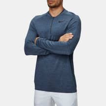 Nike Golf Dri-FIT Half-Zip T-Shirt Grey