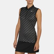 Nike Golf Precision Print Sleeveless Polo T-Shirt