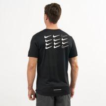 Nike Men's Dri-FIT Miler Graphic Running T-Shirt, 1477171