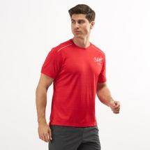 Nike Men's Dri-FIT Miler Graphic Running T-Shirt Red