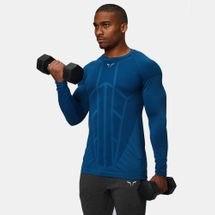 Squat Wolf Seamless Spyder Full Sleeved Training T-Shirt