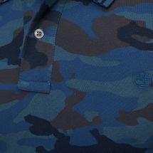 Timberland Millers River Pique Camo Polo T-Shirt, 792609
