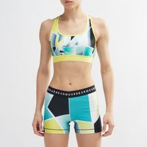 Under Armour Mid Crossback Print Sports Bra