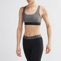 Under Armour Warp Knit High Heathered Sports Bra