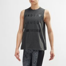 Under Armour Linear Wordmark Muscle Tank Top