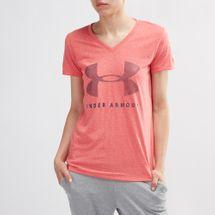 Under Armour Threadborne Graphic Twist V-Neck T-Shirt