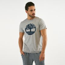 Timberland Men's Kennebec River Brand Regular T-Shirt Grey