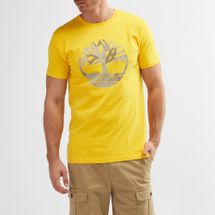 Timberland Kennebec River Seasonal Pattern Brand Slim T-Shirt