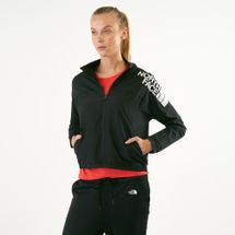 The North Face Women's Train N Logo Wind Jacket Black