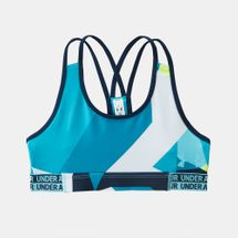 Under Armour Kids' HeatGear Armour Printed Sports Bra