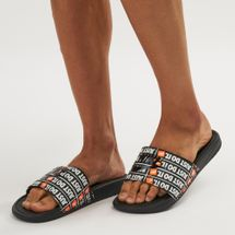 Nike Benassi Just Do It Print Slide Sandals Black