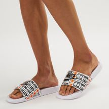 Nike Benassi Just Do It Print Slide Sandals White