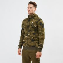Nike Sportswear Club Fleece Camo Hoodie Green
