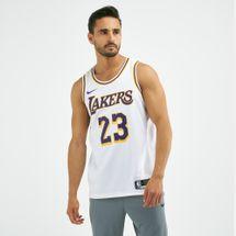 تيشيرت كرة السلة لوس انجلوس ليكرز ليبرون جيمس سوينجمان الأساسي من نايك - ان-بي-ايه