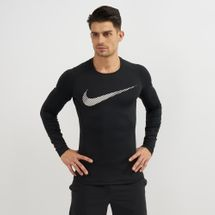 Nike Pro Therma Graphic Long Sleeve Top