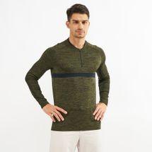 Nike Golf Dri-FIT Half-Zip T-Shirt Green