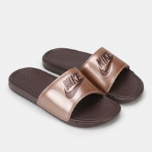 Nike Benassi Just Do It Print Sandals Red