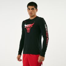 Nike Men's NBA Chicago Bulls MZ Dry Logo Long Sleeve T-Shirt