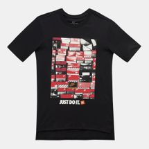 Nike Kids' Sportswear Droptail Shoebox T-Shirt (Older Kids) Black