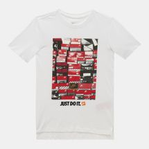 Nike Kids' Sportswear Droptail Shoebox T-Shirt (Older Kids) White