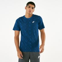 Nike Men's Sportswear HBR 2 Graphic T-Shirt Blue