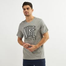 Nike Men's Sportswear Swoosh BB T-Shirt Grey