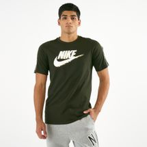 Nike Men's Sportswear Camo T-Shirt Green