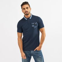 Timberland Allover Print Pique Polo T-Shirt