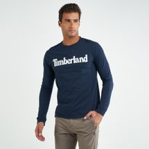 Timberland Men's Logo Long Sleeves T-shirt