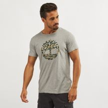 Timberland Camo Tree and Camo Logo T-Shirt Grey