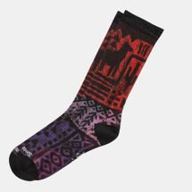Smartwool Block Print Crew Socks Purple