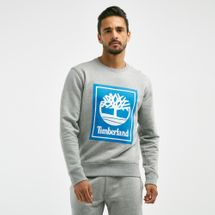 Timberland Men's YCC Crew Stacked Logo Sweatshirt Grey