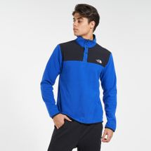 The North Face Men's TKA Glacier Snap-Neck Sweatshirt