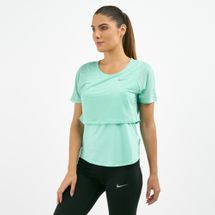 Nike Women's Breathe Overlay Top