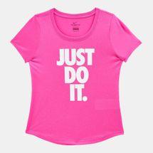 Nike Kids' Dry Legend Scoop Neck Just Do It T-Shirt (Older Kids) Pink