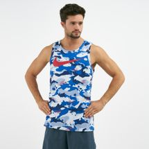 Nike Men's Dry Swoosh Camo Tank Top