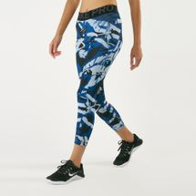 Nike Women's Pro Forest Camo Crop Leggings