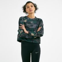 Nike Women's Dri-FIT Fleece Camo Long-sleeves Training Top