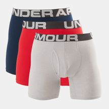 Under Armour Men's Charged Cotton 6 Inch Briefs (3 Pack)