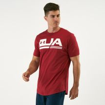 Under Armour Men's Sportstyle Drop Hem Logo T-Shirt Red