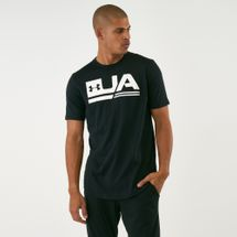 Under Armour Men's Sportstyle Dropped Hem T-Shirt Black