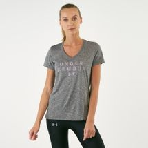 Under Armour Women's Tech V-Neck Graphic T-Shirt