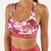 Under Armour Women's Armour Mid Crossback Printed Sports Bra, 1612842